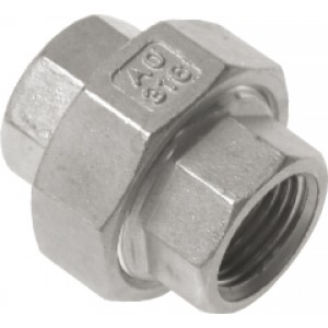 "Driedelige sok Rp1.1/4"", conisch dichtend, RVS AISI 316, 16 bar"