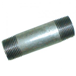 """Pijpnippel R2"""", L100, Staal verzinkt, 16 bar"""