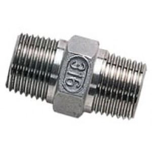 """Borstnippel R4"""" - R4"""", RVS AISI 316L, 16 bar"""