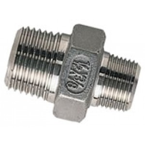 """Borstnippel R1.1/2"""" - R1.1/4"""", RVS AISI 316L, 16 bar"""