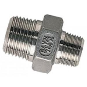 """Borstnippel R2"""" - R1.1/2"""", RVS AISI 316L, 16 bar"""