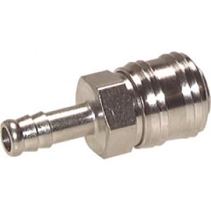 Snelkoppeling Euro (DN7,2) 6 mm slang, (Pinvergrendeling), Messing vernikkeld