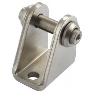 RVS Achterscharnier M16 x 1,5 voor mini cilinder Ø 12 en 16
