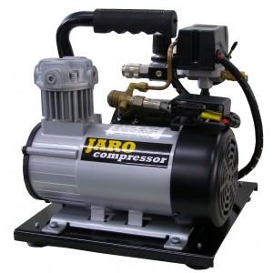 12V Compressor 95 l/min, 8 bar, 2 liter ketel, olievrij