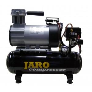 12V Compressor 95 l/min, 8 bar, 6 liter ketel, olievrij