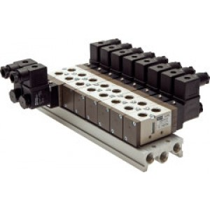 Basisplaat (9-voudig) voor SF4000 (5/2 en 5/3-weg)