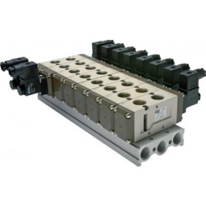 Basisplaat (6-voudig) voor SF6000 (5/2 en 5/3-weg)