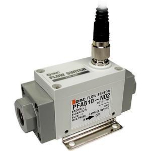 """Flowsensor 20 tot 200 l/min, 4 tot 20 mA, G3/8"""" binnendraad"""