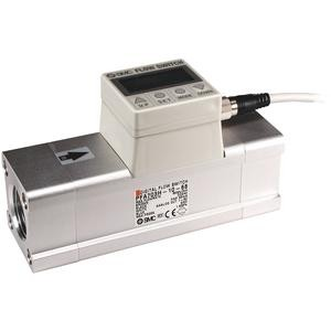 """Flowmeter met display 150 tot 3000 l/min, 1x PNP + (1 tot 5 V), G1"""" binnendraad"""