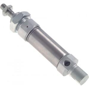 ISO 6432 Mini cilinder, zuiger Ø 16 mm, slag 25 mm, enkelwerkend