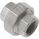 "Driedelige sok Rp1/4"", conisch dichtend, RVS AISI 316, 16 bar"