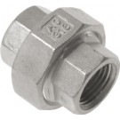 "Driedelige sok Rp3/8"", conisch dichtend, RVS AISI 316, 16 bar"