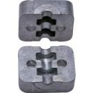 Stel klemplaatjes Aluminium, 35 mm, licht
