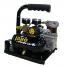24V Compressor 34 l/min, 8 bar, 0,5 liter ketel, olievrij