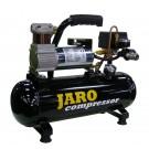 24V Compressor 34 l/min, 8 bar, 6 liter ketel, olievrij
