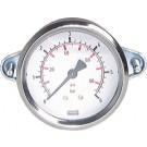 """Manometer paneelmontage Ø63, 0 tot 40 bar, G1/4"""""""