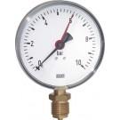"Manometer onderaansluiting Ø100, 0 tot 40 bar, G1/2"""