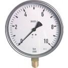 "Manometer onderaansluiting Ø160, 0 tot 1600 bar, G1/2"""