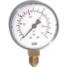 "Manometer onderaansluiting Ø50, -1 tot 0 bar, G1/4"""