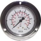 """Manometer paneelmontage Ø63, 0 tot 400 bar, G1/4"""""""