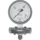 "Membraan manometer onderaansluiting Ø100, -1 tot 1,5 bar, G1/2"""