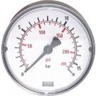 "Manometer achteraansluiting Ø40, -1 tot 0 bar, G1/8"""