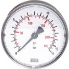 "Manometer achteraansluiting Ø40, 0 tot 16 bar, G1/8"""