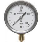 """Nulpuntinstelbare manometer onderaansluiting Ø63, 0 tot 100 mbar, G1/4"""""""