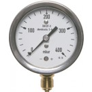 """Nulpuntinstelbare manometer onderaansluiting Ø160, 0 tot 100 mbar, G1/2"""""""