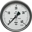 "Manometer achteraansluiting Ø100, -60 tot 0 mbar, G1/2"""