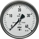 "Manometer achteraansluiting Ø160, -60 tot 0 mbar, G1/2"""