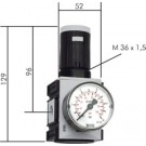 "Drukregelaar G1/4"", 0,1 - 1 bar"