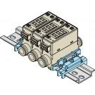 """DIN-Rail montage beugel voor 1 flowmeter PFM  (niet geschikt voor 1/4"""" flowmeters)"""